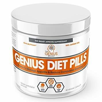 The Genius Brand Genius Diet Pills 50 Caps Satiereal Saffron