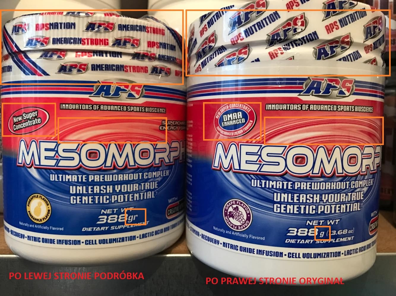 Compare Fake/Original APS Mesomorph