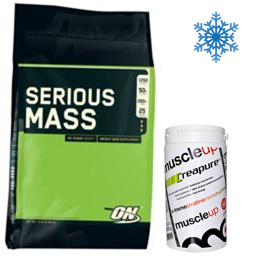 Zestaw Serious Mass 5455g + Creatine Muscle Up 500g